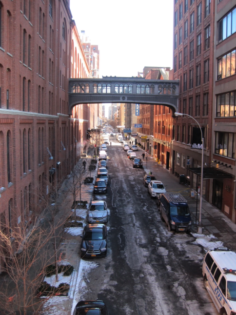 A chilly view from the high line
